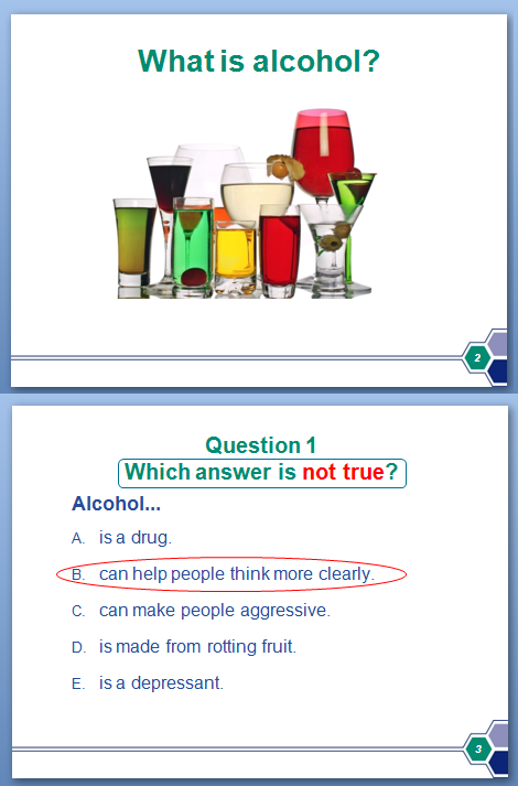 Photo of Alcohol PowerPoint slide