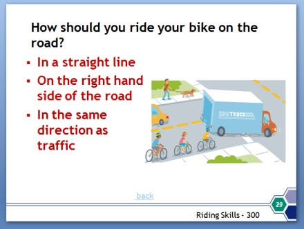 Image of Bicycle Safety Presentation slide
