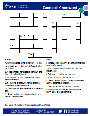 Cannabis Crossword Puzzle