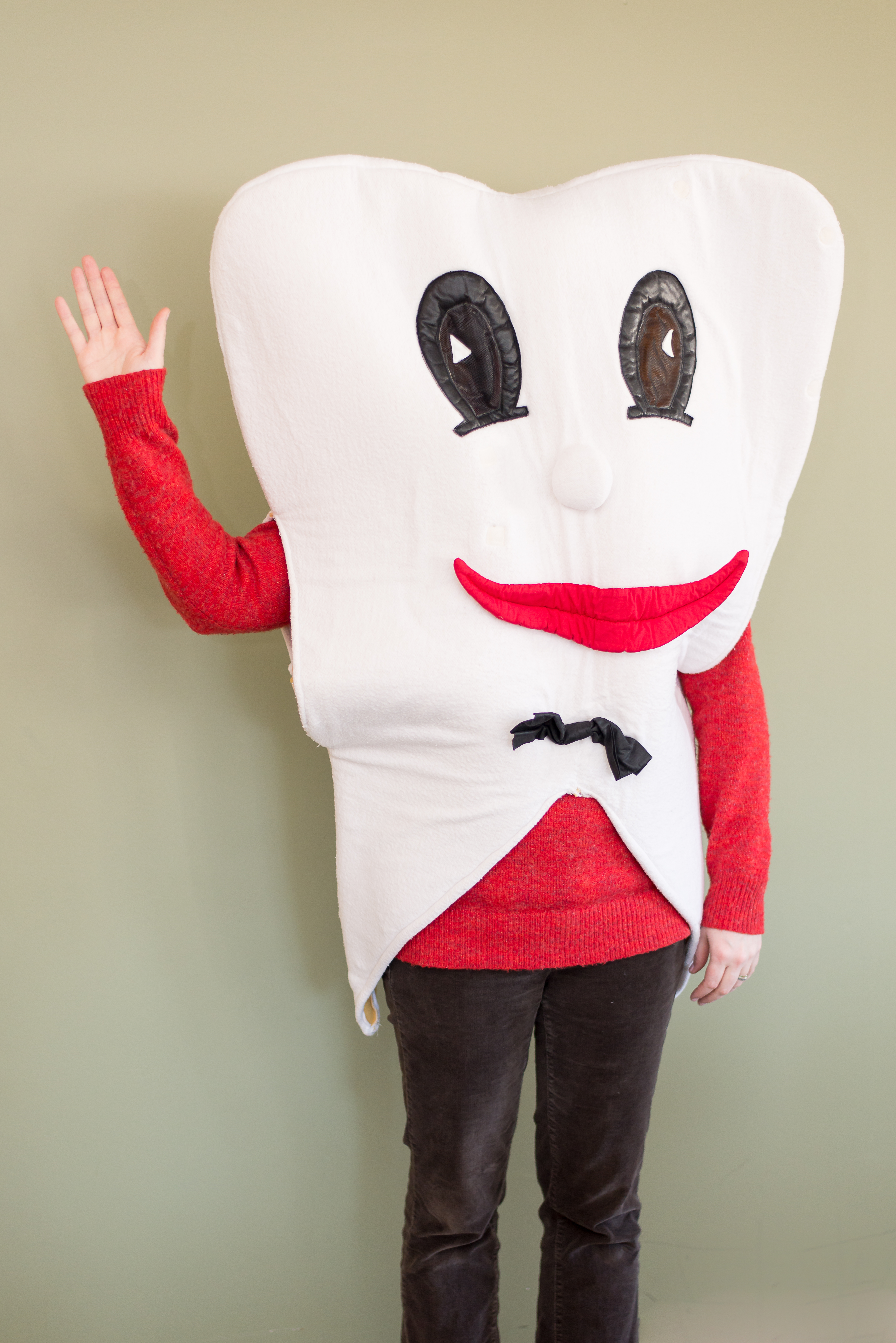 Photo of person in tooth costume