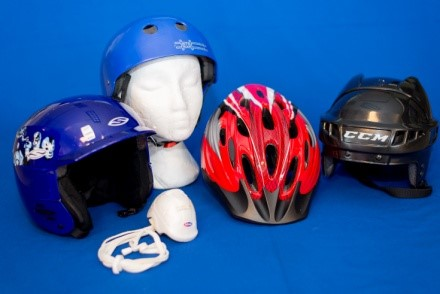 Photo of various helmets