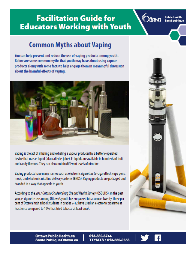 Vaping Myths Educator Guide