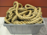 Tug-O-War rope in a bin