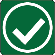 green icon indicating approved for operation