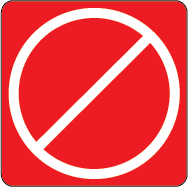 Red icon indicating premise has been closed