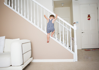 Child climbing stairs