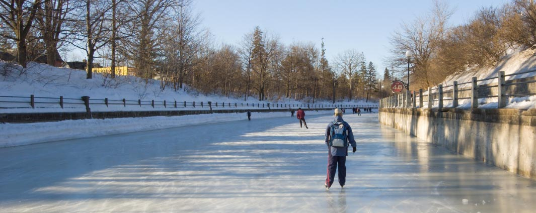 person skating on the Canal rink