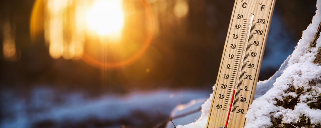 Un thermomètre par temps froid