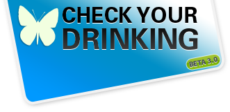 Check your drinking logo