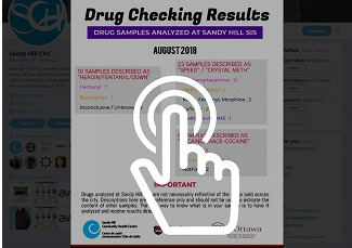 Drug checking results