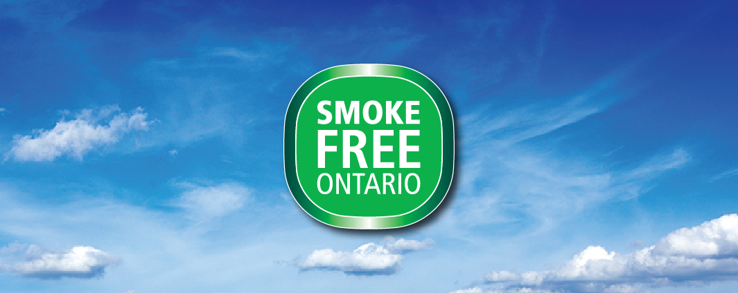Smoke-free Ontario logo on a background of fresh air