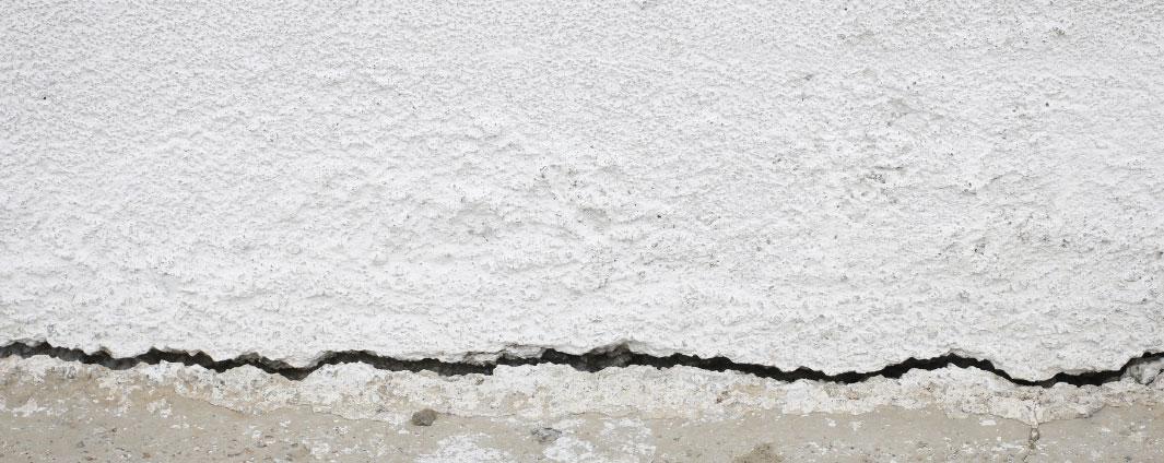 A wall crack