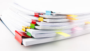 a stack of reports