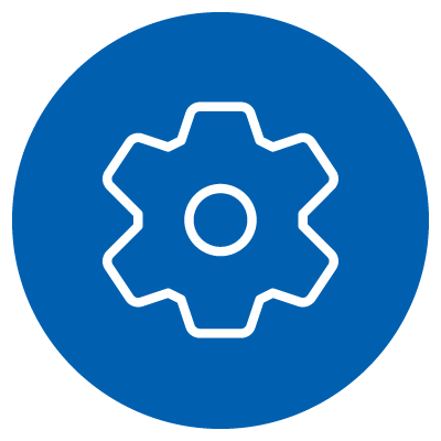A vector image of a cog/gear